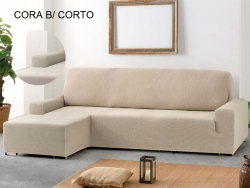 Funda chaise longue ajustable Cora - Brazo corto